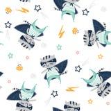 Fondo del bebé con el super héroe del gato libre illustration