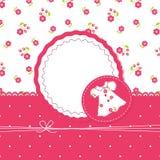 Fondo del bebé con el vestido Imagen de archivo libre de regalías