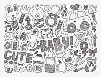 Fondo del bebé del garabato Fotografía de archivo libre de regalías