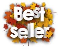 Fondo del best-seller con le foglie di acero Fotografie Stock