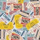 Fondo del biglietto del cinema Fotografia Stock Libera da Diritti