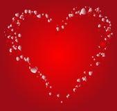 Fondo del biglietto di S. Valentino Immagine Stock