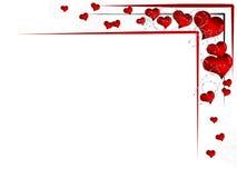 Fondo del biglietto di S. Valentino royalty illustrazione gratis