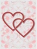 Fondo del biglietto di S. Valentino illustrazione vettoriale