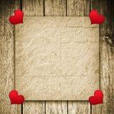 Fondo del biglietto di S. Valentino Fotografia Stock Libera da Diritti