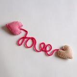 Fondo del biglietto di S. Valentino, cuore di amore, giorno di biglietti di S. Valentino, diy Immagine Stock Libera da Diritti