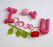 Fondo del biglietto di S. Valentino, cuore di amore, giorno di biglietti di S. Valentino, diy Immagini Stock Libere da Diritti