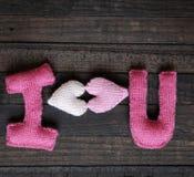 Fondo del biglietto di S. Valentino, cuore, giorno di biglietti di S. Valentino, regalo, fatto a mano Immagine Stock Libera da Diritti