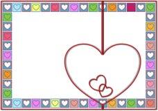 Fondo del biglietto di S. Valentino dei colori pastelli Fotografie Stock