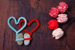 Fondo del biglietto di S. Valentino, il 14 febbraio, ti amo Fotografia Stock
