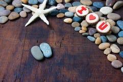 Fondo del biglietto di S. Valentino, il 14 febbraio, ti amo Immagini Stock