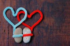 Fondo del biglietto di S. Valentino, il 14 febbraio, ti amo Immagine Stock