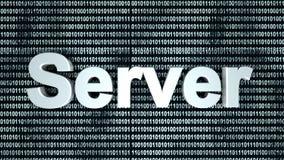 Fondo del binario del servidor Fotografía de archivo