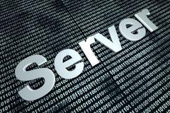 Fondo del binario del servidor Imagenes de archivo