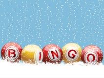 Fondo del bingo de la Navidad Imagenes de archivo