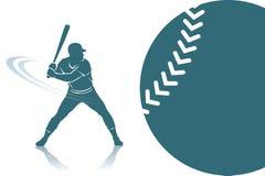 Fondo del béisbol Imagen de archivo libre de regalías
