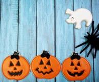 Fondo del biscotto di Halloween Immagini Stock Libere da Diritti