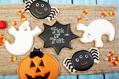 Fondo del biscotto di Halloween Fotografie Stock