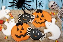 Fondo del biscotto di Halloween Fotografie Stock Libere da Diritti