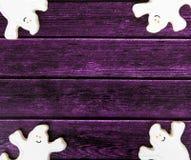 Fondo del biscotto di Halloween Fotografia Stock