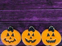 Fondo del biscotto di Halloween Immagini Stock