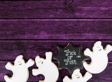 Fondo del biscotto di Halloween Immagine Stock Libera da Diritti