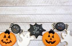 Fondo del biscotto di Halloween Immagine Stock