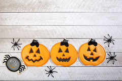 Fondo del biscotto di Halloween Fotografia Stock Libera da Diritti