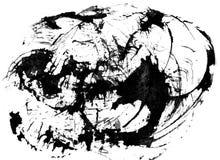 Fondo del black&white dell'estratto dell'acquerello su bianco illustrazione di stock