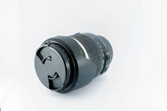 Fondo del blanco de la cámara del equipo de la lente Fotografía de archivo libre de regalías