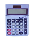 Fondo del blanco de la calculadora Imagen de archivo