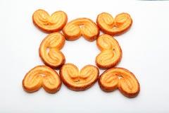 Fondo del blanco de la calidad de Sugar Cookies Studio del caramelo Imagenes de archivo