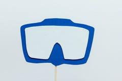 Fondo del blanco de la máscara del salto de la espuma de Eva Fotos de archivo libres de regalías