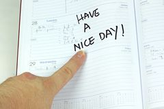 Fondo del blanco de la nota del saludo del calendario Imagen de archivo