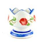 Fondo del blanco de la taza de la porcelana Imagen de archivo