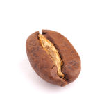 Fondo del blanco de los granos de café Imagen de archivo libre de regalías