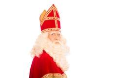 Fondo del blanco de Sinterklaas Imágenes de archivo libres de regalías