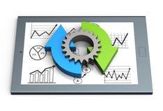 Carta de proceso de negocio ilustración del vector
