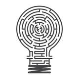 Fondo del blanco del juego del laberinto de la idea Imágenes de archivo libres de regalías