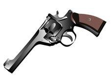 Fondo del blanco del revólver. Imágenes de archivo libres de regalías