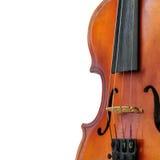 Fondo del blanco del violín Fotografía de archivo