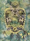 Fondo del blasón de Víspera de Todos los Santos Imagen de archivo