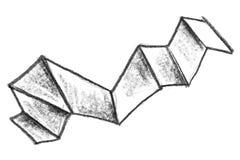 Fondo del blocchetto della matita e linee e raschiature approssimativi di astrazione Fondo crudo del sito Web della matita Strutt royalty illustrazione gratis