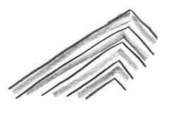Fondo del blocchetto della matita e linee e raschiature approssimativi di astrazione Fondo crudo del sito Web della matita Strutt illustrazione di stock