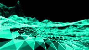 Fondo del blu del abstact del fuoco Illustrazione di colore 3D di esplosione Fotografia Stock