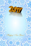Fondo del blu del nuovo anno 2017 Fotografia Stock
