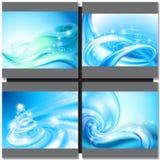 Fondo del blu di Abstrakt Fotografie Stock
