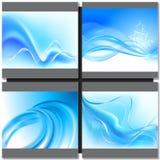 Fondo del blu di Abstrakt Fotografia Stock