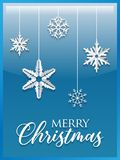 Fondo del blu di Buon Natale illustrazione di stock