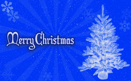 Fondo del blu di Buon Natale Immagini Stock